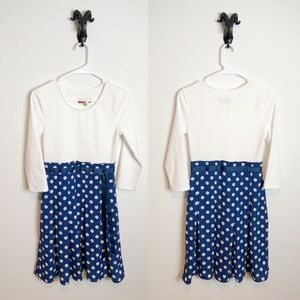 ModCloth Fervour Dress White with Polkadot Skirt